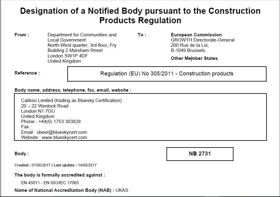 Bluesky Certification Adds Fire Door And Panic Exit Door Notified